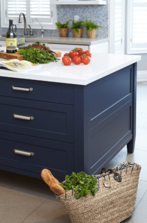 Hale Navy As A Part Of A Contemporary Kitchen