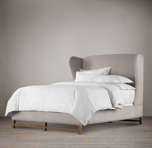 French Wing Fabric Bed | Restoration Hardware