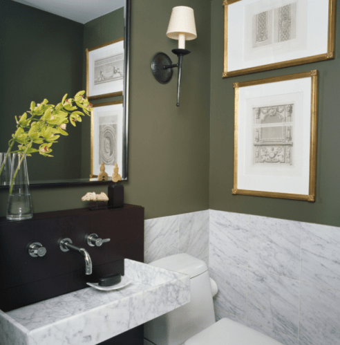 Get the look at home with Benjamin Moore Creekside Green 21440