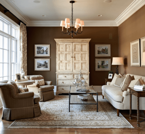 Get the look at home with Benjamin Moore Raisin 1237