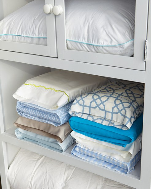 Place linens inside a matching pillow case so you're never looking for a matching set.