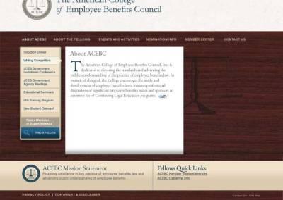 ACEBC Site, Short Page