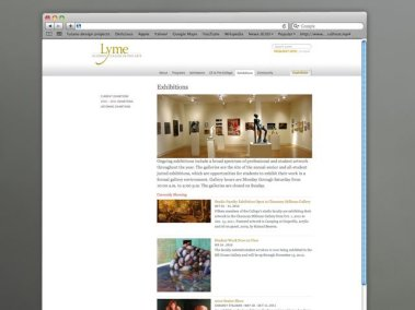Lyme Academy Exhibit page