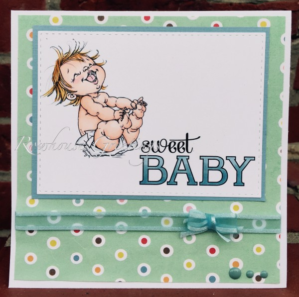 Rowhouse Greetings | New Baby | Happy Baby by Mo's Digital Pencil; Baby We've Grown by Stampin' Up!