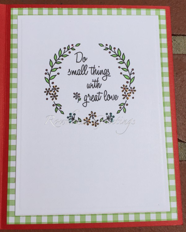 Rowhouse Greetings | Anniversary | Do Small Things With Great Love by the Nana Company
