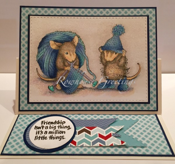 Rowhouse Greetings | Friendship | Knit Gift by House Mouse Designs / Stampendous!