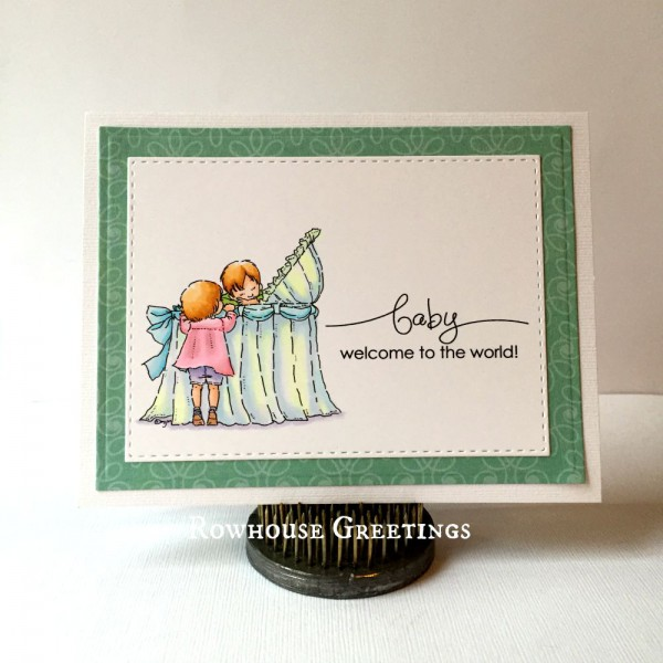 Rowhouse Greetings | New Baby | New Baby by Mo's Digital Pencil