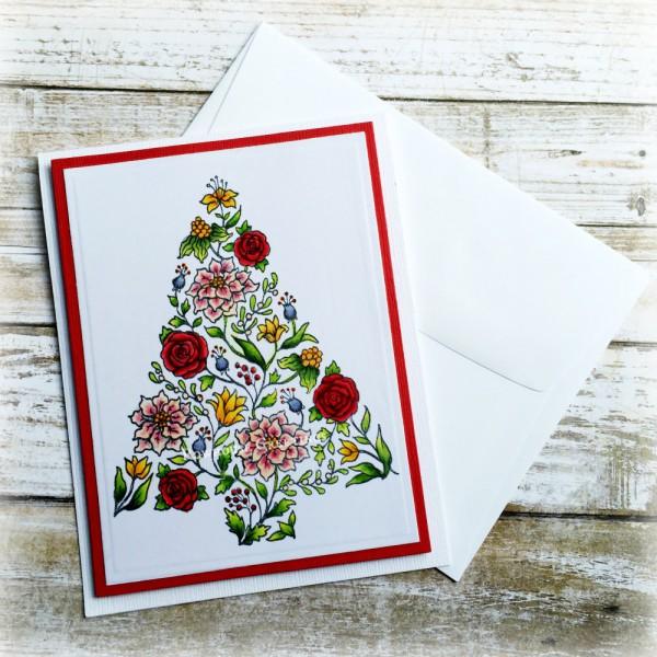 Rowhouse Greetings | Christmas | Botanical Tree by Power Poppy