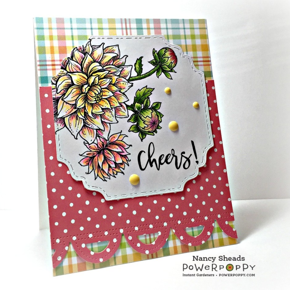 Rowhouse Greetings | Well Hello Dalhia by Power Poppy