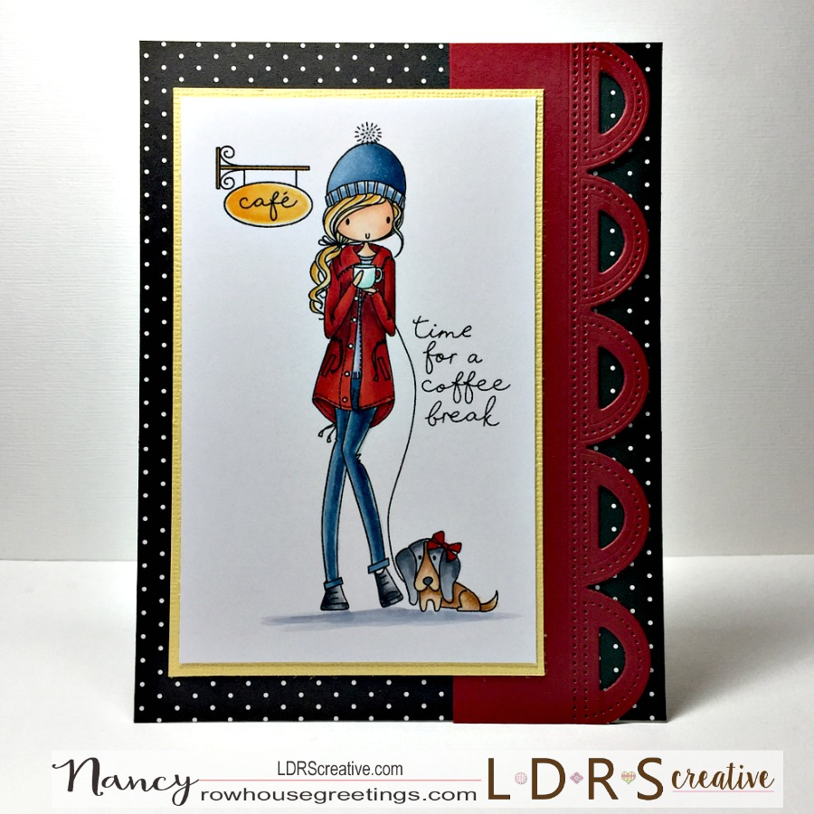 Rowhouse Greetings | Friendship | Time for a Coffee Break by LDRS Creative All Dressed Up