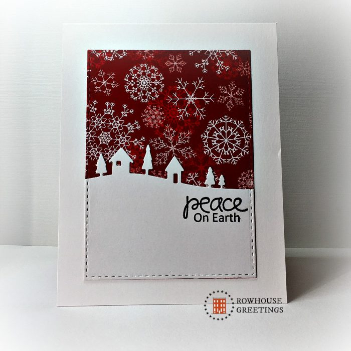 Rowhouse Greetings | Christmas | Country Landscape by Memory Box