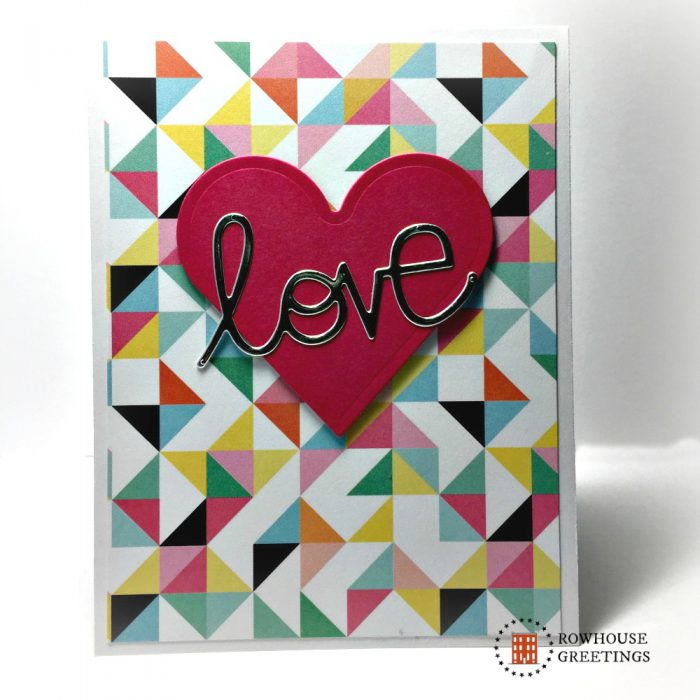 Rowhouse Greetings | Valentines | Love Word Die by Paper Smooches