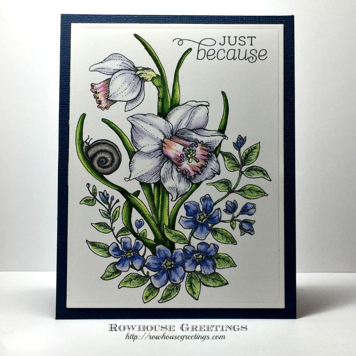 Rowhouse Greetings | Just Because | Dancing with Daffodils by Power Poppy