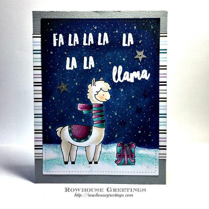 Rowhouse Greetings | Fa La Llama by Neat & Tangled