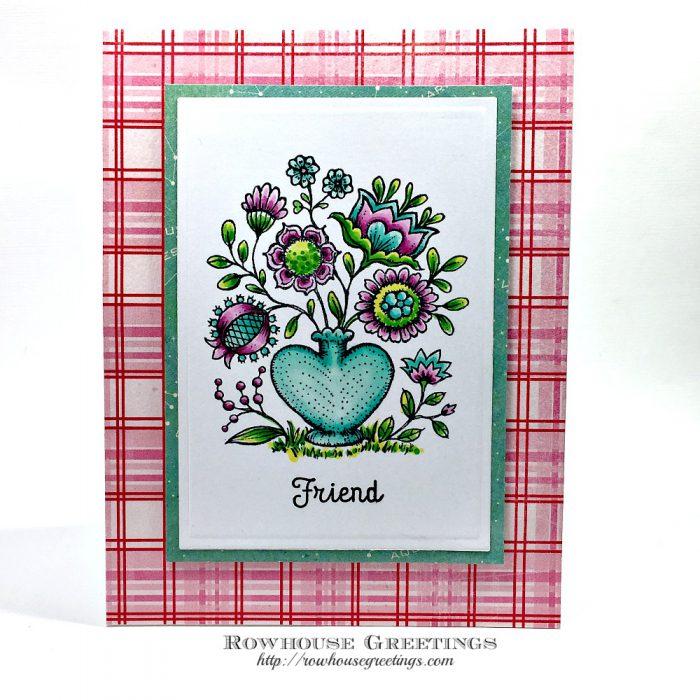 Rowhouse Greetings | Folk Heart by Power Poppy