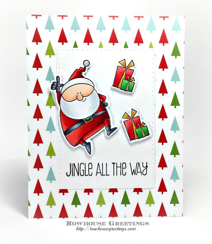 Rowhouse Greetings   Jingle All the Way by My Favorite Things Stamps (MFT Stamps)