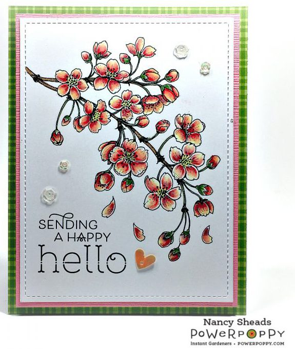 Rowhouse Greetings | Blossoming Cherry by Power Poppy