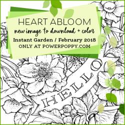 Heart Abloom By Power Poppy