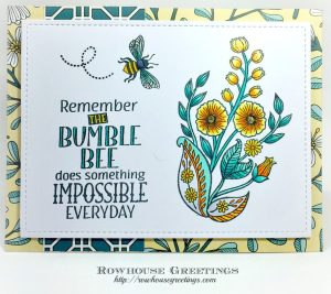 Rowhouse Greetings | Bee-utiful by Dare 2B Artzy