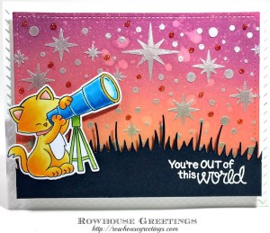 Rowhouse Greetings | Cosmic Newton by Newton's Nook