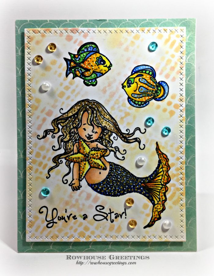 Rowhouse Greetings | Mermaids by Penny Black