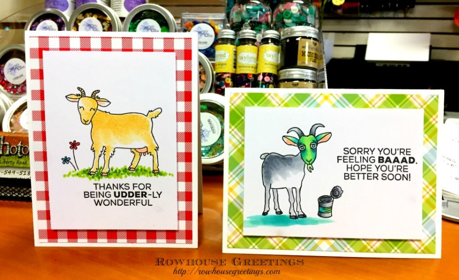 Rowhouse Greetings | Gertie & Garth by Technique Tuesday