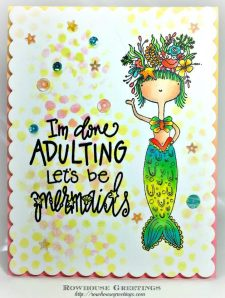 Rowhouse Greetings | Mermaid JB by Impression Obsession
