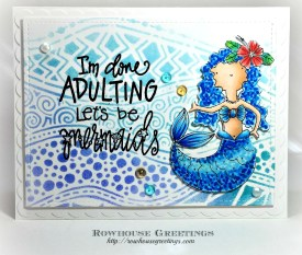 Rowhouse Greetings | Mermaid Jessie by Impression Obsession