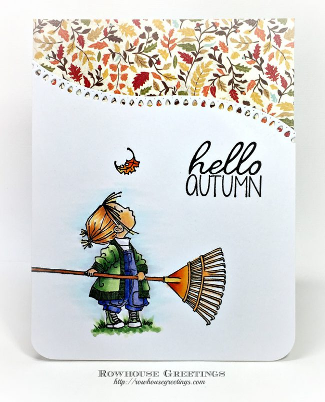 Rowhouse Greetings   Hello Autum by Penny Black