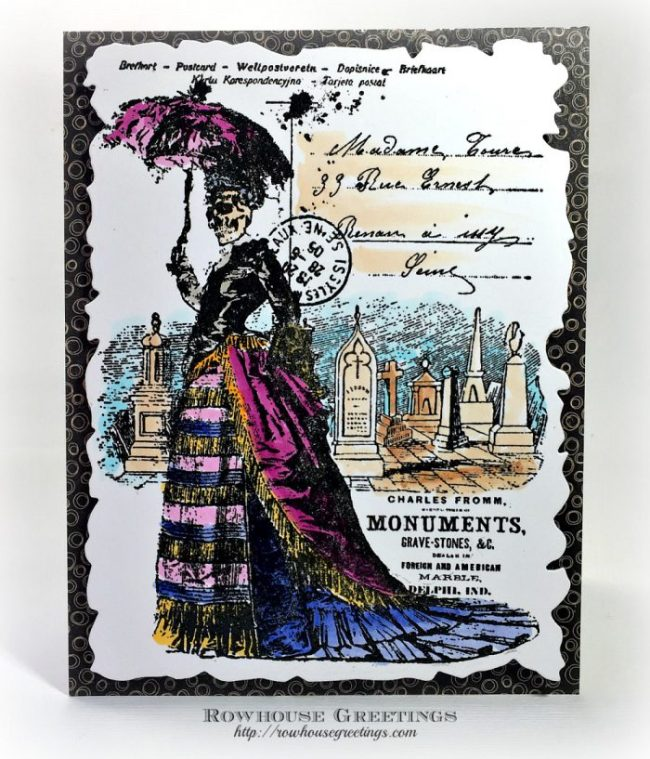 Rowhouse Greetings | Skeleton Lady by Stampendous