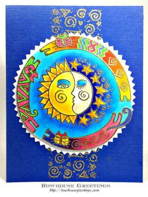 Rowhouse Greetings | Laurel Burch Sun Chase by Stampendous