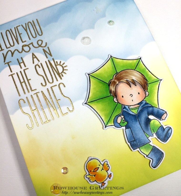 Rowhouse Greetings   BB Puddle Jumper by My Favorite Things (MFT Stamps)