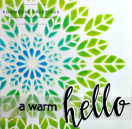Rowhouse Greetings | Leaf Burst Stencil by Altenew