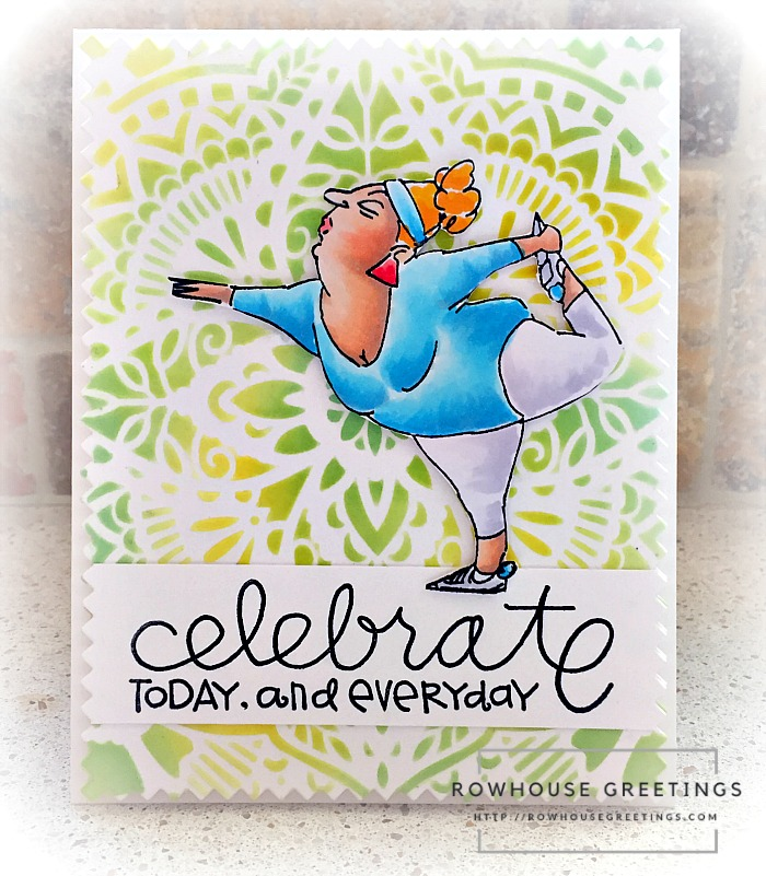 Rowhouse Greetings | Yoga Yolanda by Art Impressions