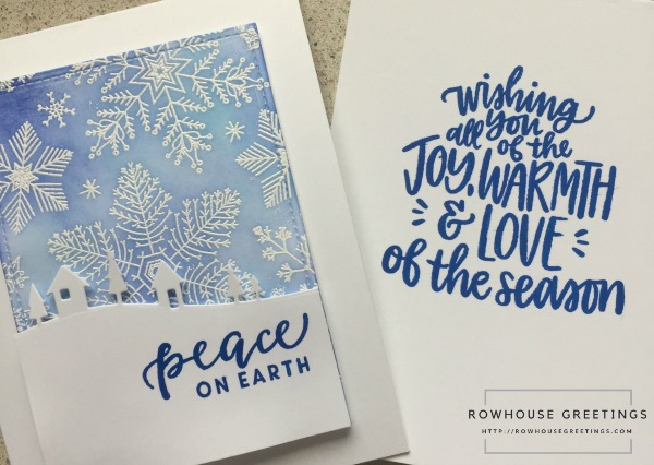 Hand Drawn Snowflakes Bold Print by Hero Arts; Comfort & Joy by Avery Elle; Wishing You Love by Neat & Tangled