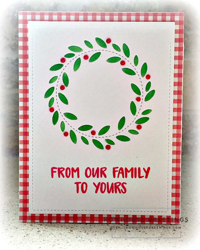 Rowhouse Greetings   Stitched Wreath by Poppy Stamps
