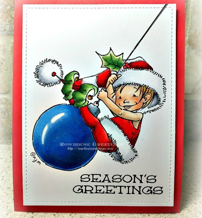 Rowhouse Greetings | Little Elf Finn by Mo's DIgital Pencil