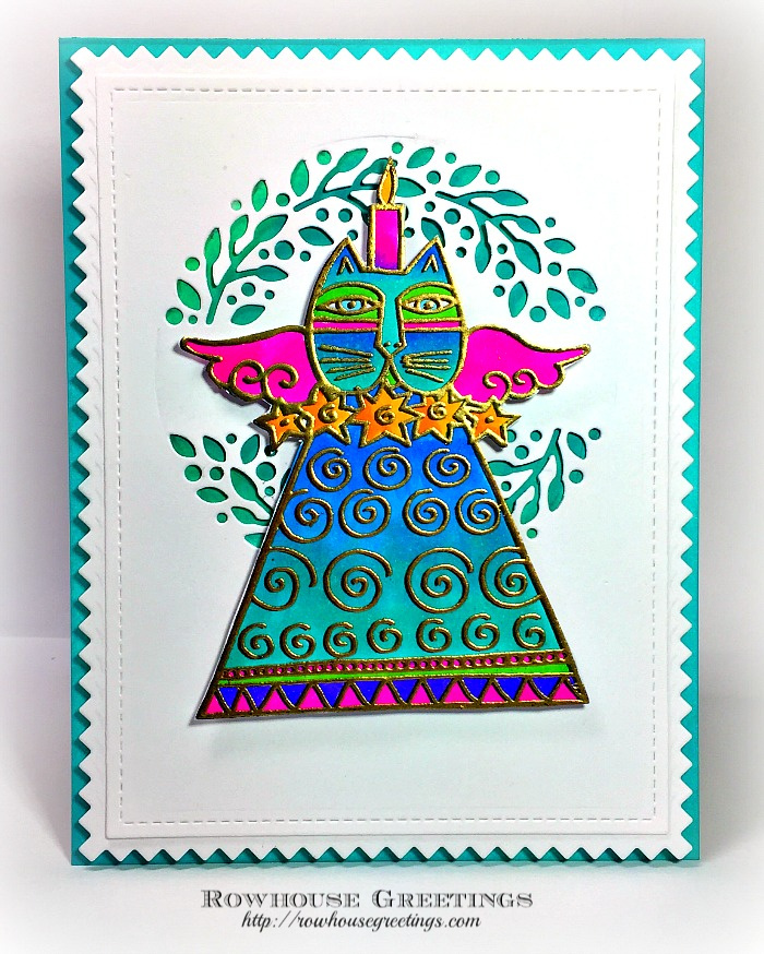Rowhouse Greetings | Laurel Burch Feline Candle by Stampendous