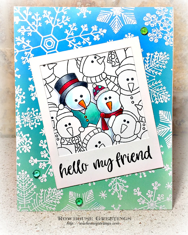 Rowhouse Greetings | Frozen Fellowship by Newton's Nook Design