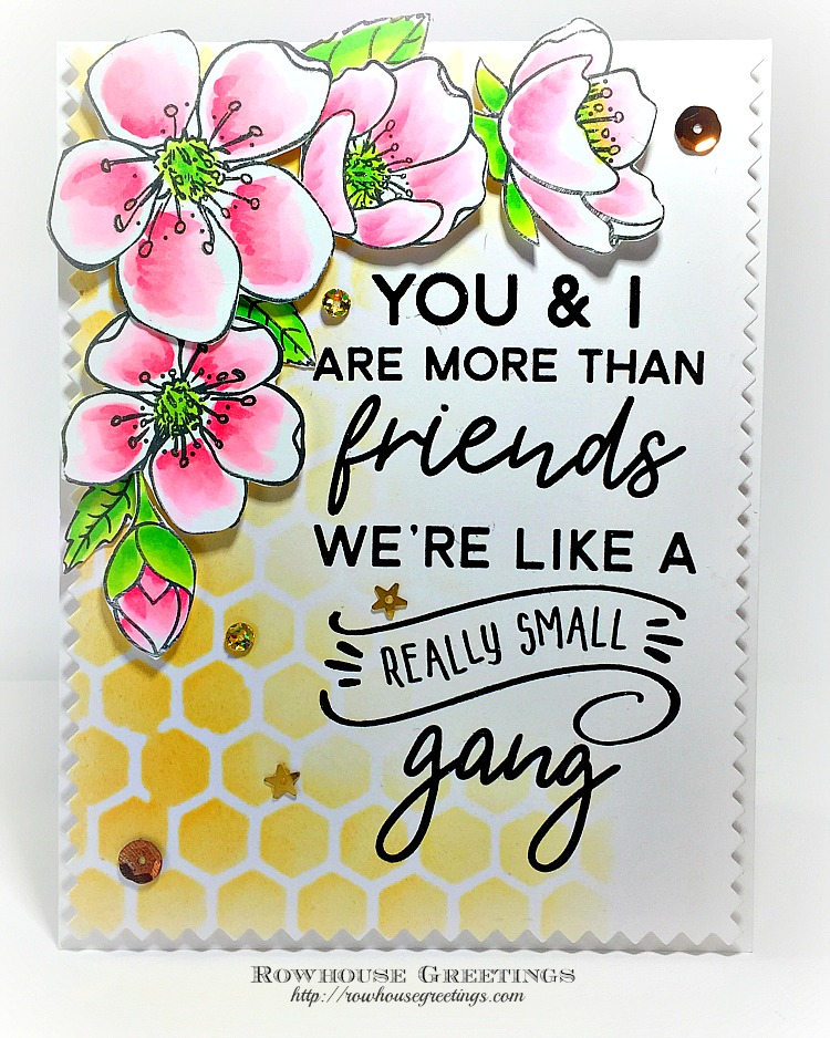 Rowhouse Greetings   Spring Blossoms by Honey Bee Stamps