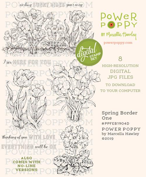 Spring Border One by Power Poppy