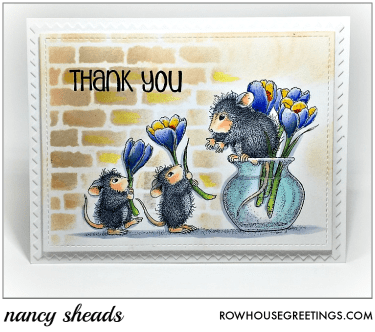 Rowhouse Greetings | Flower Arranging by House Mouse Designs for Stampendous!