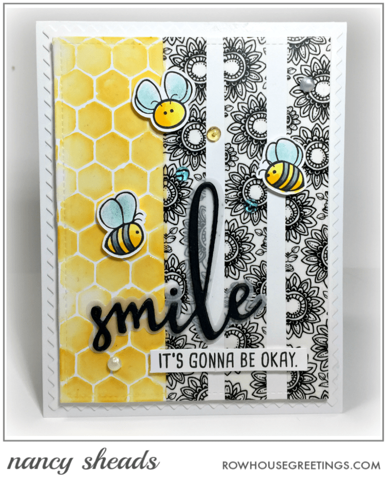 Rowhouse Greetings   Busy Bees by Honey Bee Stamps