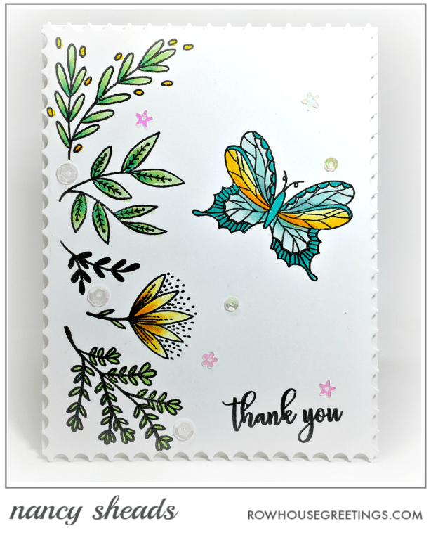 Rowhouse Greetings | Butterfly Garden by Penny Black