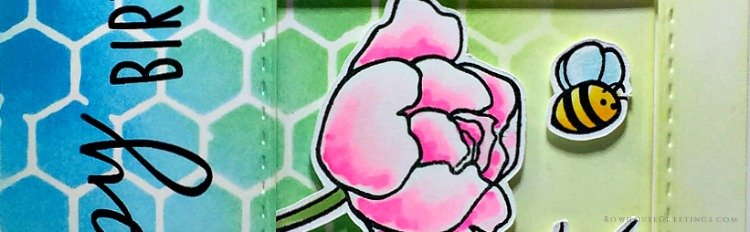 Rowhouse Greetings | Spring Peonies by Honey Bee Stamps