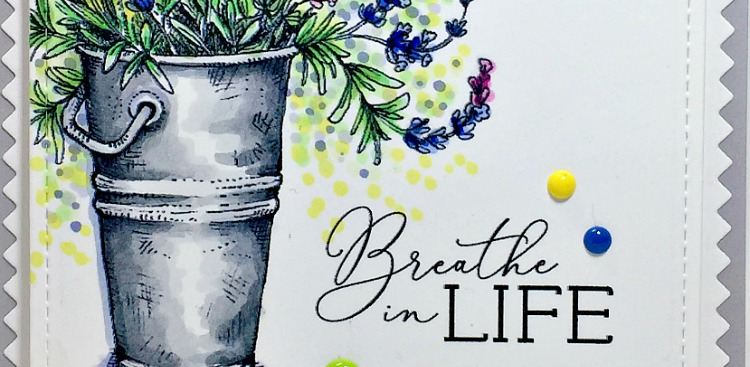 Rowhouse Greetings | Breathe in Life by Power Poppy