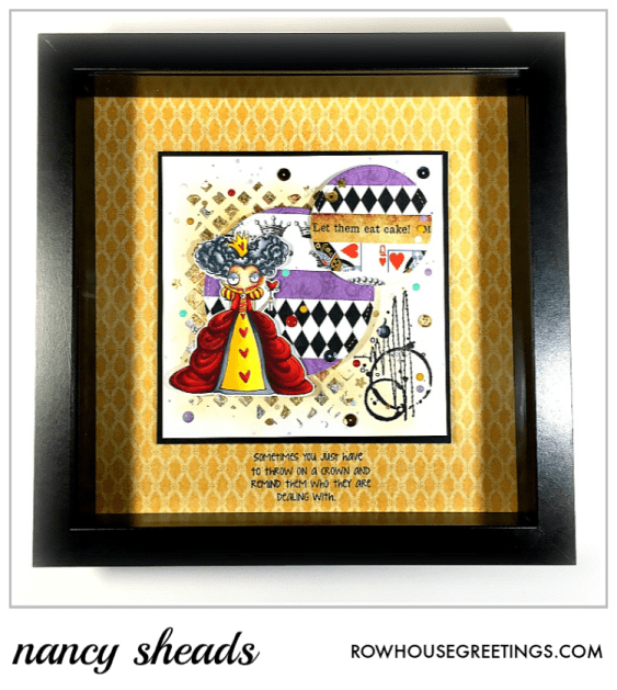 Rowhouse Greetings | Oddball Queen of Hearts by Stamping Bella