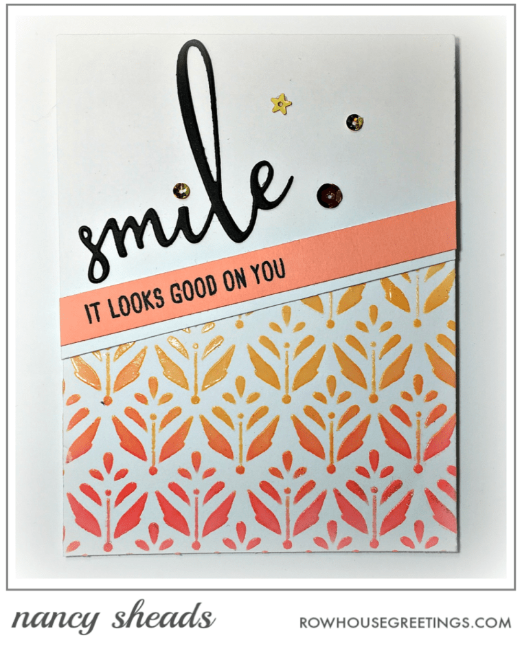 Rowhouse Greetings | Smile by Honey Bee Stamps | Summertime Bloom by Echo Park Paper Co.