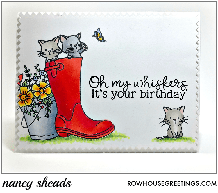 Rowhouse Greetings   Oh My Whiskers by Honey Bee Stamps