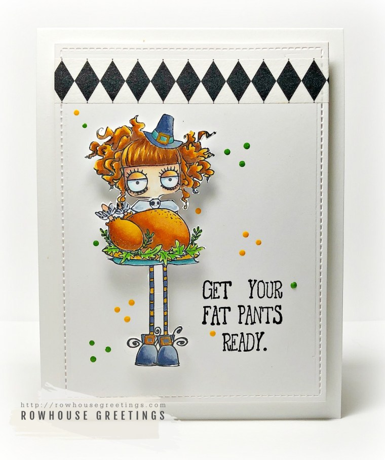 Rowhouse Greetings | Oddball Thanksgiving by Stamping Bella